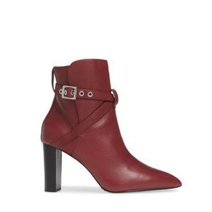 NEW Paige Camille Pointed Bootie 8 Cabernet Red